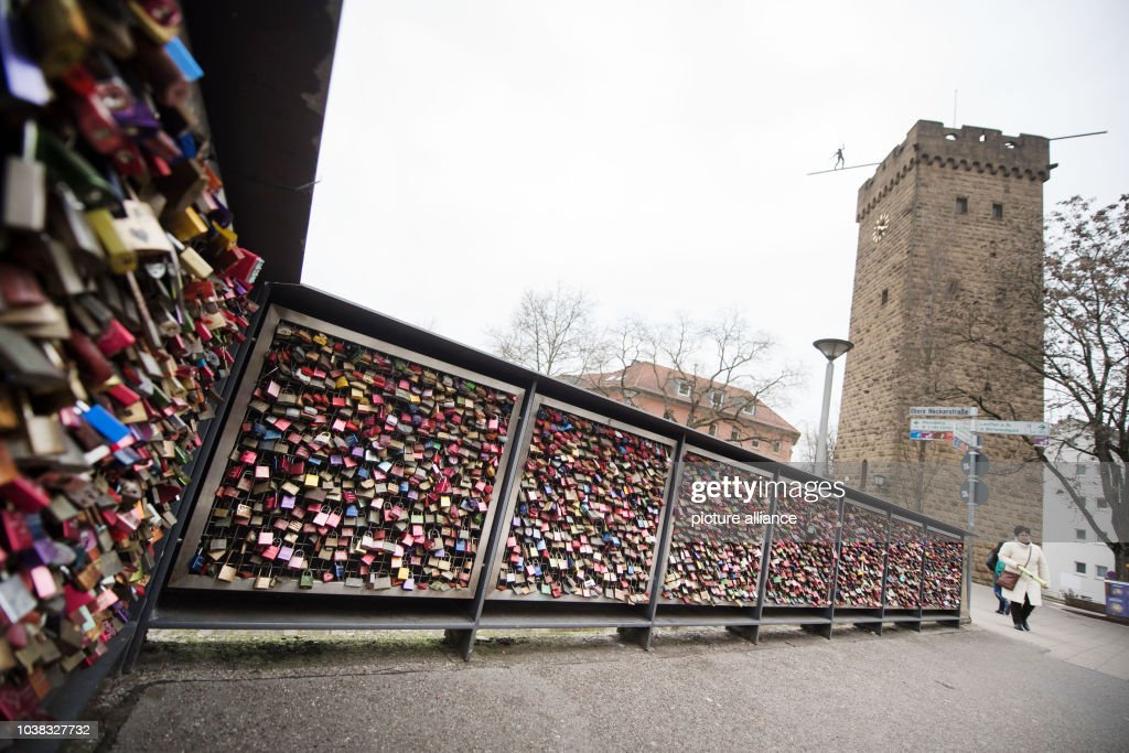 Love locks in Heilbronn : News Photo