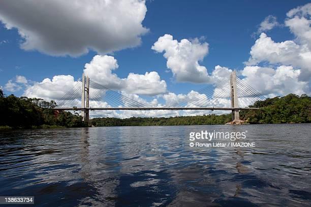 Bridge cross Oyapock River Between french Guiana a