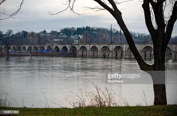 A bridge crosses the Susquehanna River in Harrisburg Pennsylvania US on Thursday Dec 15 2011 The Harrisburg city council lost a bid to appeal...