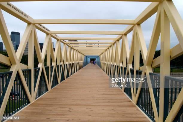 Bridge crossing the Highway in Mineapolis