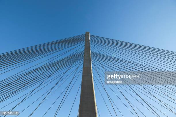 bridge detail - suspension bridge stock pictures, royalty-free photos & images