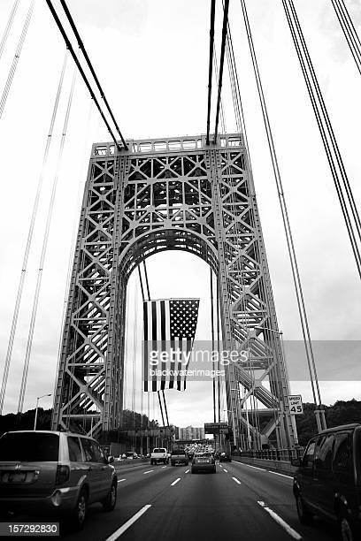 bridge flag. - george washington bridge stock pictures, royalty-free photos & images