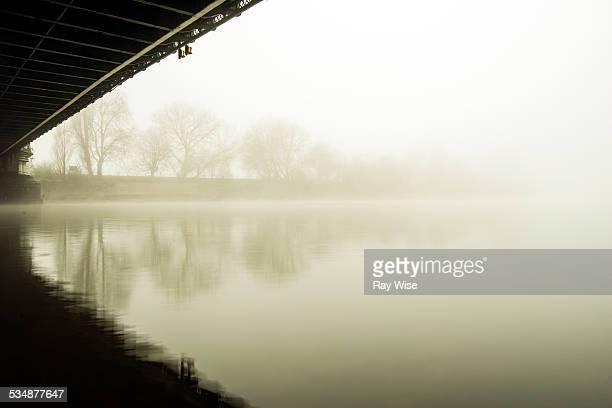 Bridge fog abstract