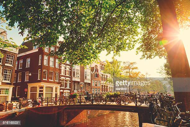 bridge in amsterdam, netherlands - netherlands stock pictures, royalty-free photos & images