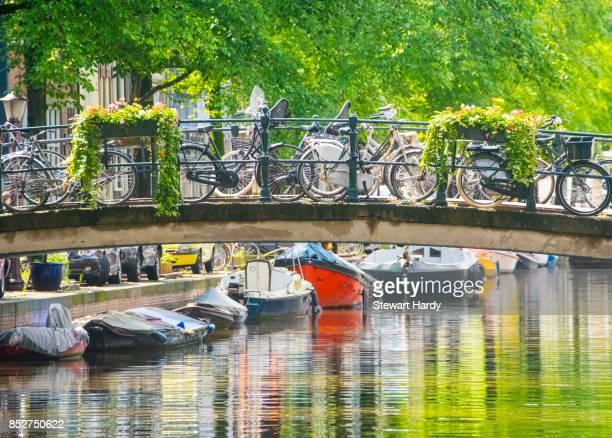 bridge in amsterdam - noord holland stockfoto's en -beelden