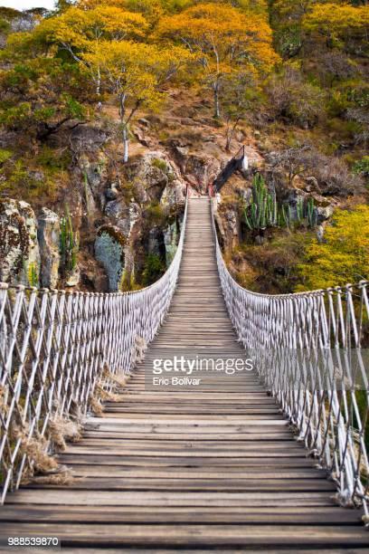 A bridge in autumn, Guanajuato, Mexico.