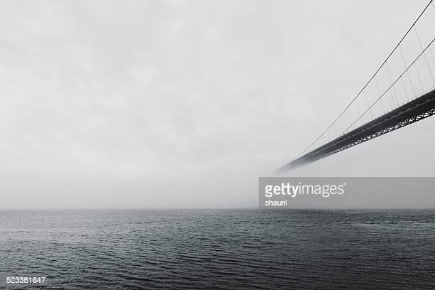 Bridge in Fog Bank