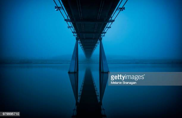 Bridge in fog, Stockton-On-Tees, Durham, England, UK
