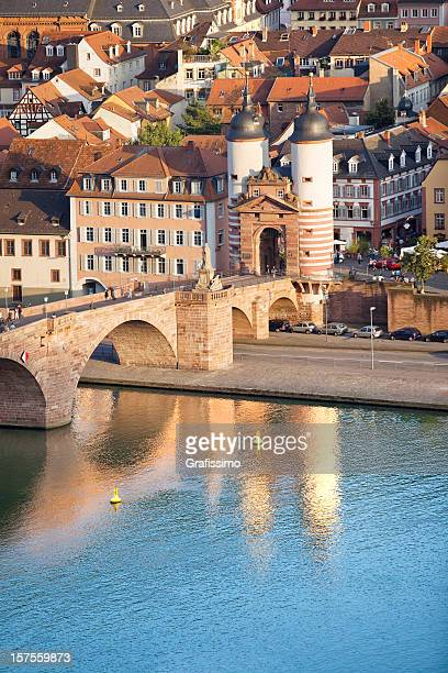 bridge in heidelberg germany - heidelberg germany stock pictures, royalty-free photos & images