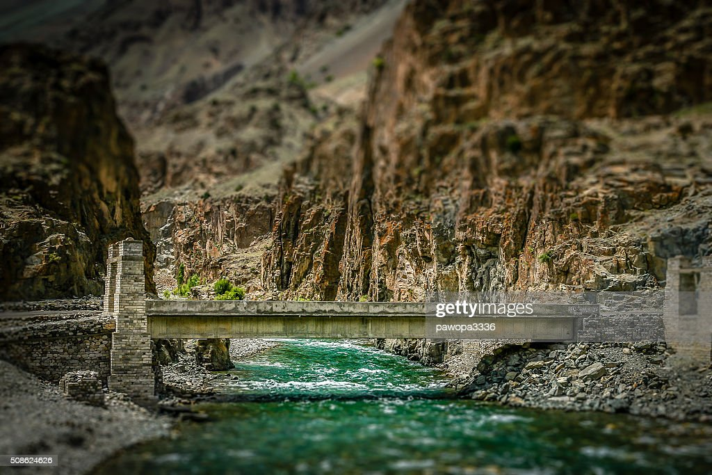 Bridge in Karakorum : Stock Photo