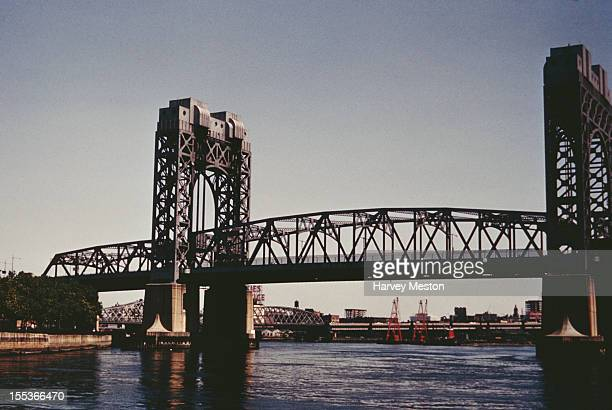 A bridge in New York City circa 1970