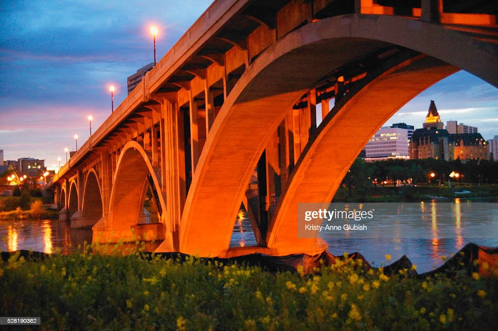 Bridge in Saskatoon : Stock Photo
