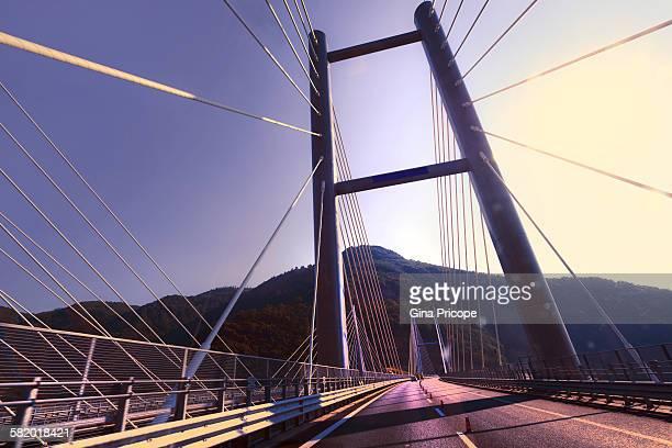 Bridge in the highway A3 Napoli to Reggio Calabria