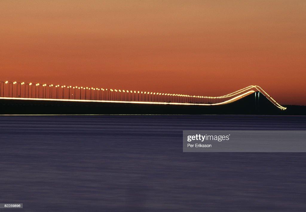 A bridge in the night Sweden. : Stock Photo