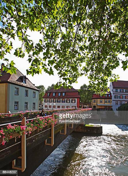 Bridge in the old town on June 11 2009 in Bamberg Germany Bamberg is listed as a World Heritage by UNESCO