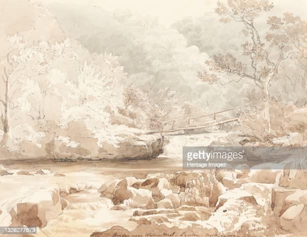 Bridge Near Waters-Meet, Lynton, North Devon, first half 19th century. Attributed to James Bulwer. Artist James Bulwer.
