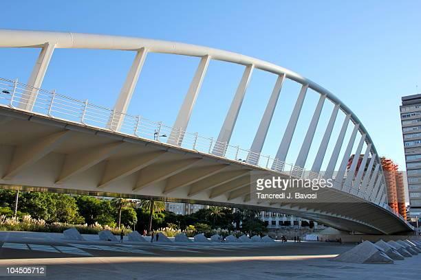 bridge of alameda , valencia - bavosi stock photos and pictures