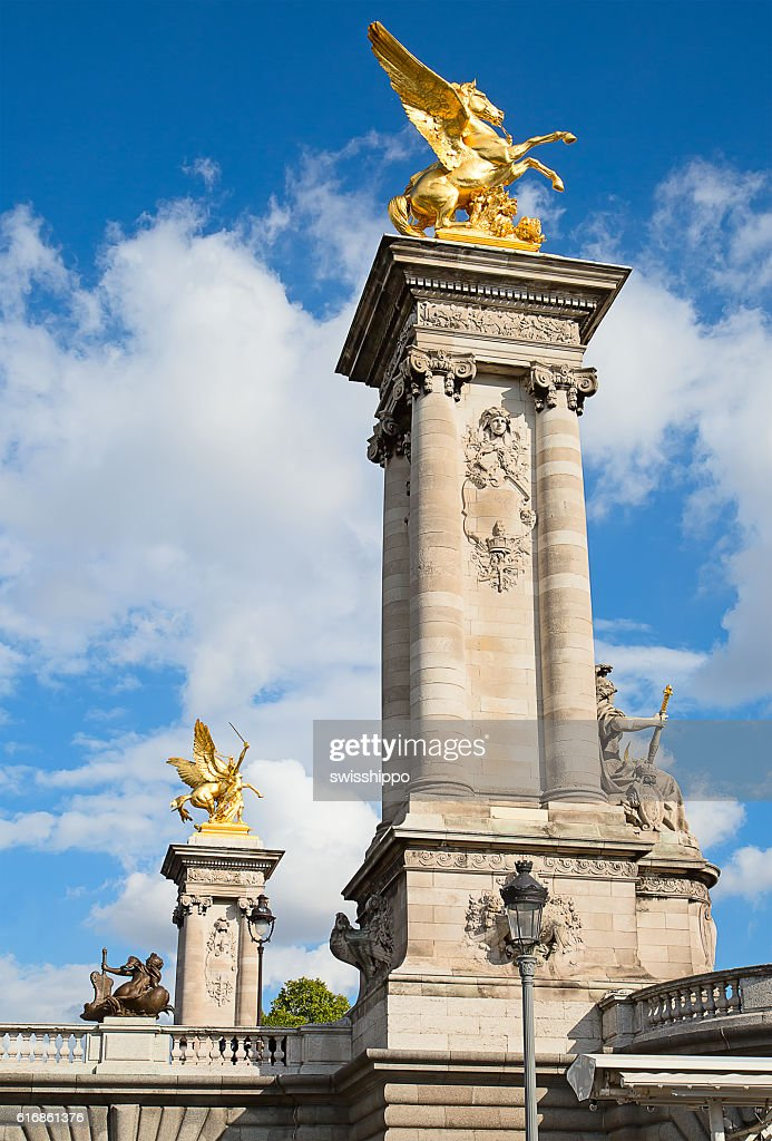 Bridge of Alexandre III in Paris : Stock Photo