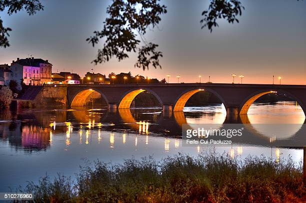 bridge of bergerac dordogne france - ベルジュラック ストックフォトと画像