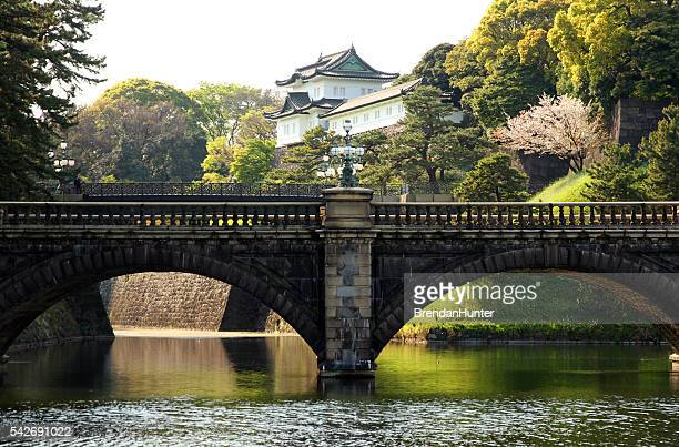 bridge of emperors - imperial palace tokyo stock photos and pictures