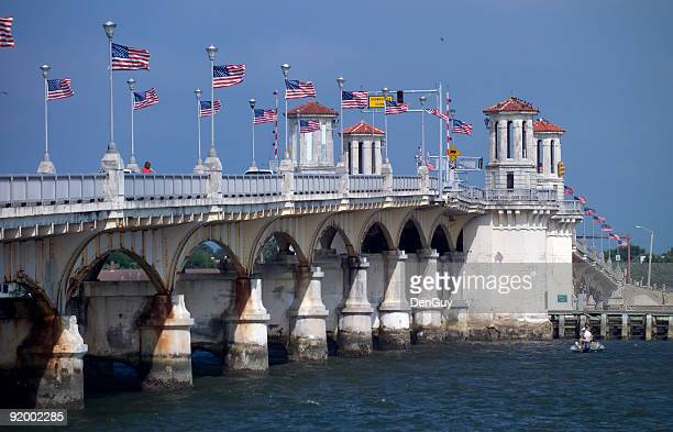 bridge of lions st augustine florida - st. augustine florida stock photos and pictures