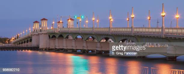 bridge of lions - st. augustine - florida - st. augustine florida stock photos and pictures