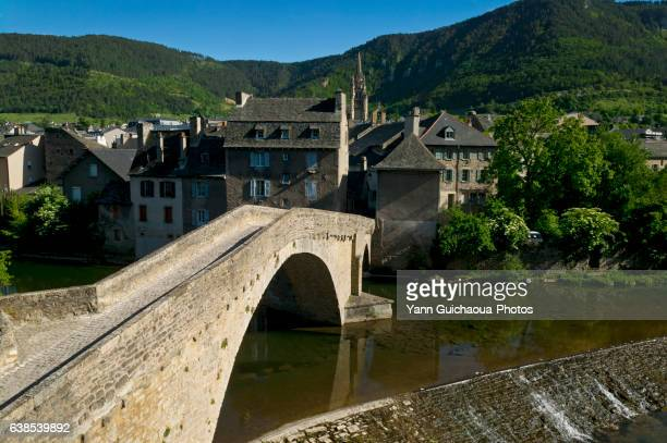 bridge of notre-dame,mende, lozere, languedoc roussillon, france - mende stock pictures, royalty-free photos & images