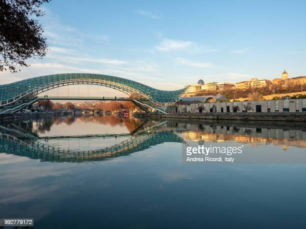 Bridge of Peace at sunset, Tbilisi, Georgia
