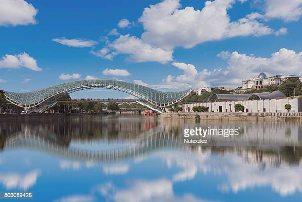 bridge of peace in tbilisi. - eurasia stock pictures, royalty-free photos & images