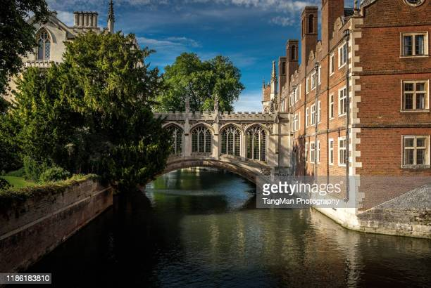 bridge of sighs, cambridge - cambridge cambridgeshire imagens e fotografias de stock