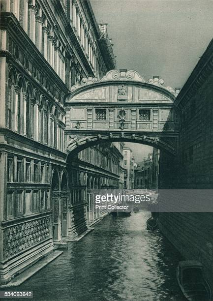 Bridge of Sighs Venice Italy' from 'Italien in Bildern' by Eugen Poppel 1927 Designed by Antonio Contino and built in 1600 the Bridge of Sighs...