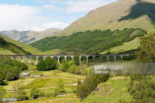 Bridge of the West Highland Line railway line, Glenfinnan Viaduct, Glenfinnan, Highlands, Scotland, United Kingdom