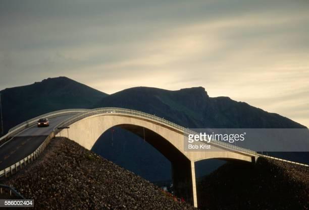 Bridge on Atlantic Highway in Norway