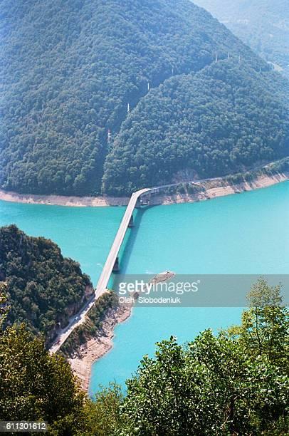 Bridge on Piva lake