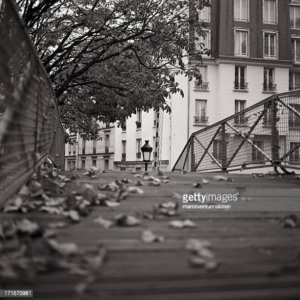 Pont sur le canal, streetlamp, dans la ville de Paris