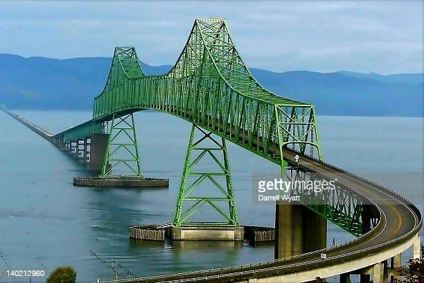 Bridge over Columbia River in Astoria