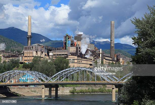 Bridge Over Columbia River With Zinc And Lead Smelting Plant