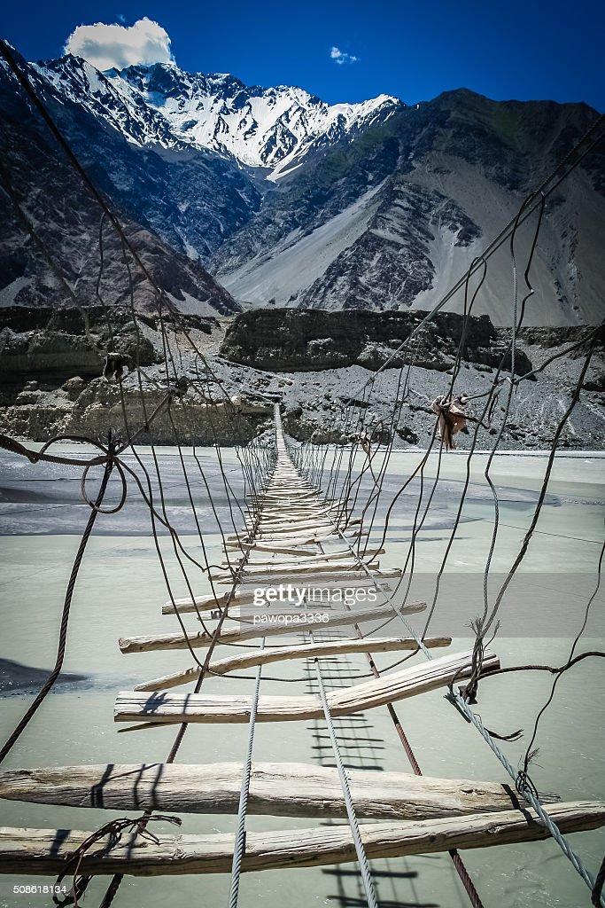 Bridge Over Hunza River : Stock Photo