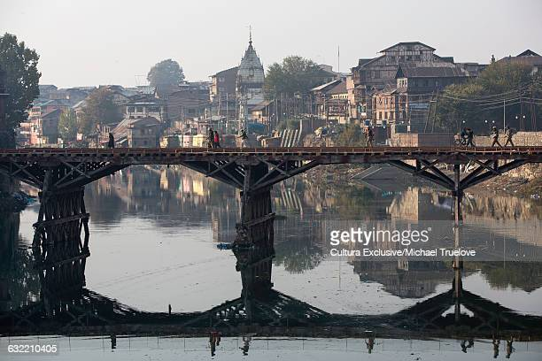 Bridge over Jhelum River in Srinagar Town, Jammu and Kashmir, India