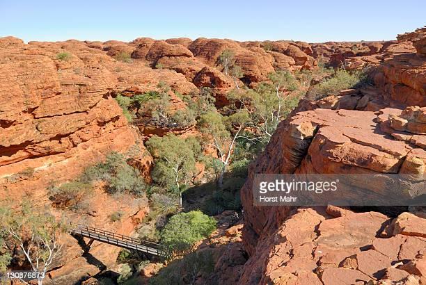 Bridge over Kings Creek, Kings Canyon, Watarrka National Park, Northern Territory, Australia