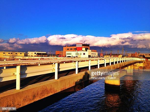 bridge over river against blue sky - mie prefecture stock pictures, royalty-free photos & images
