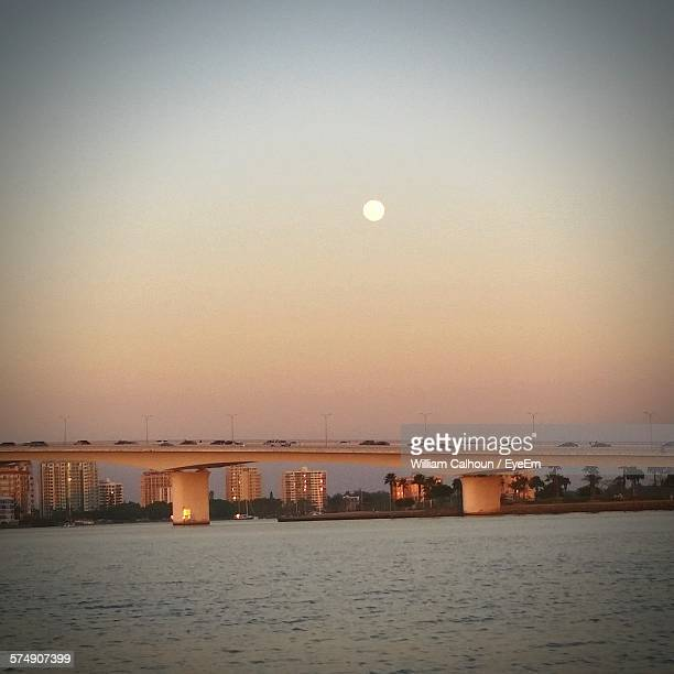 bridge over river against clear sky - william moon stock pictures, royalty-free photos & images