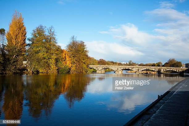 bridge over river blackwater; fermoy county cork ireland - fermoy stock photos and pictures