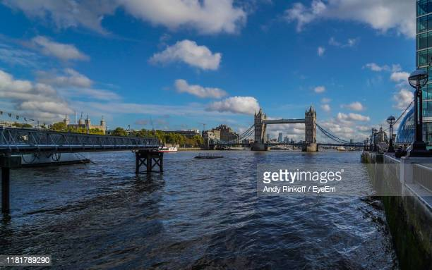 bridge over river in city - andy rinkoff stock photos and pictures