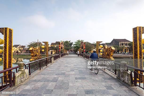Bridge over river in Hoi An Vietnam