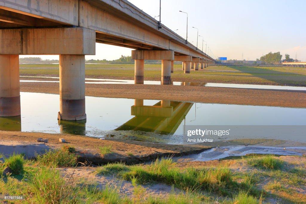 Bridge Over River Jhelum : Stock Photo