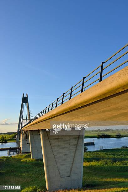 bridge over river - overijssel stock pictures, royalty-free photos & images