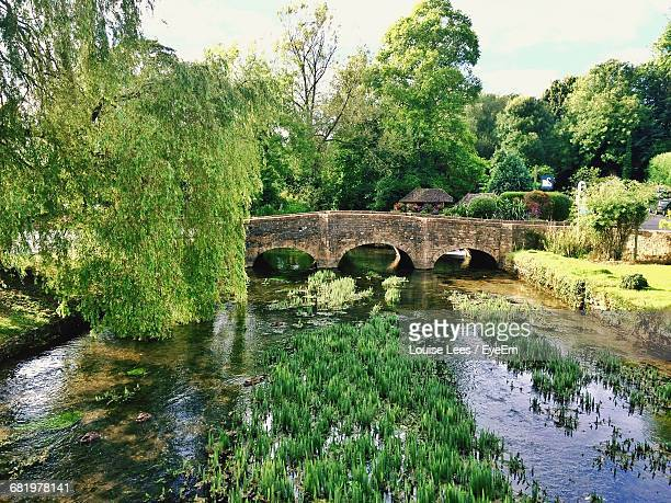 bridge over river - cirencester stock pictures, royalty-free photos & images