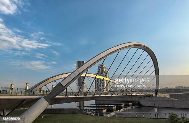 bridge over river - putrajaya stock photos and pictures