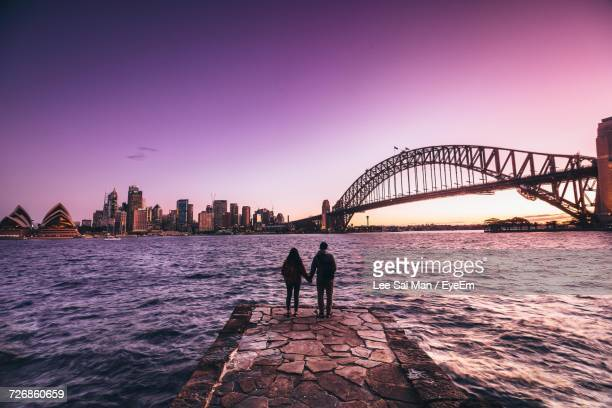 bridge over river - sydney stock pictures, royalty-free photos & images